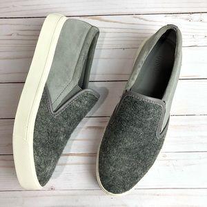 Vince Banler Felt & Suede Gray Slip On Size 9